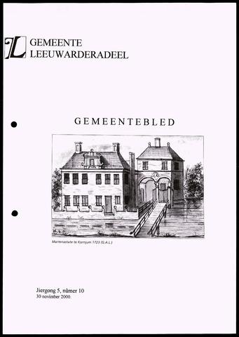 Notulen van de gemeenteraad van Leeuwarderadeel 2000-11-30