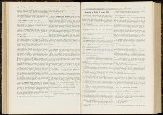 Raadsverslagen van de gemeente Leeuwarden, 1865-2007 (Notulen) 1925-11-10