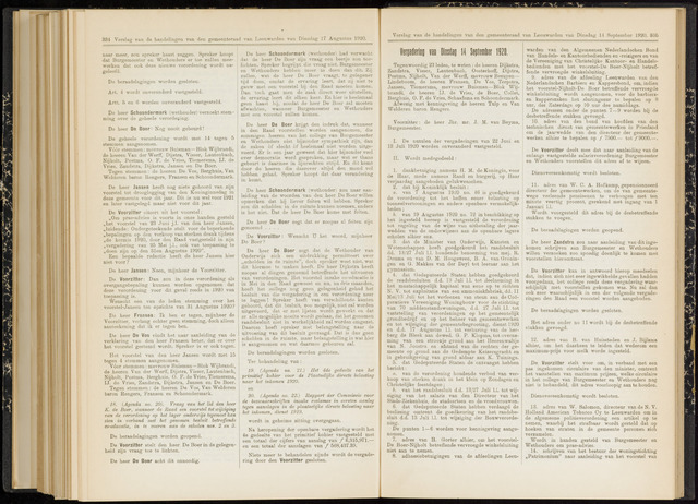 Raadsverslagen van de gemeente Leeuwarden, 1865-2007 (Notulen) 1920-09-14
