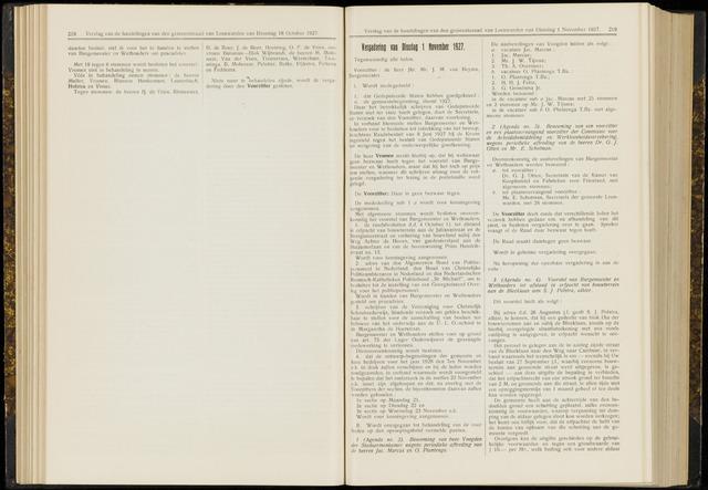 Raadsverslagen van de gemeente Leeuwarden, 1865-2007 (Notulen) 1927-11-01
