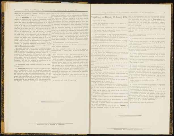 Raadsverslagen van de gemeente Leeuwarden, 1865-2007 (Notulen) 1887-01-25