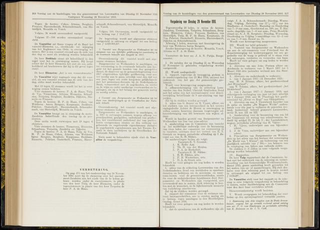Raadsverslagen van de gemeente Leeuwarden, 1865-2007 (Notulen) 1916-11-28