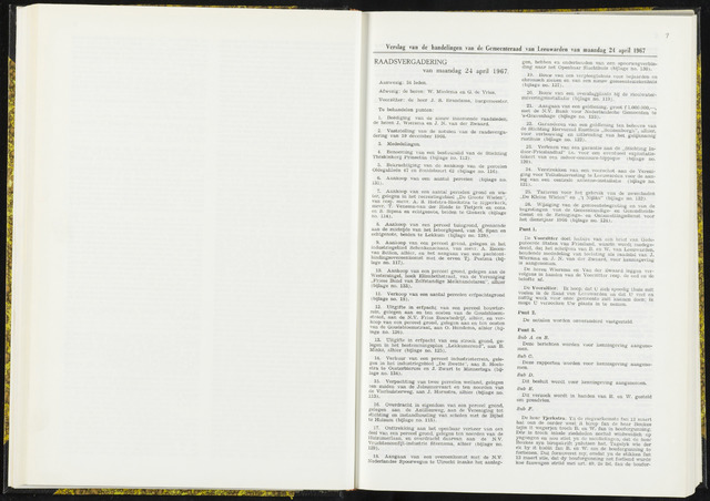 Raadsverslagen van de gemeente Leeuwarden, 1865-2007 (Notulen) 1967-04-24