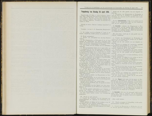 Raadsverslagen van de gemeente Leeuwarden, 1865-2007 (Notulen) 1905-04-25
