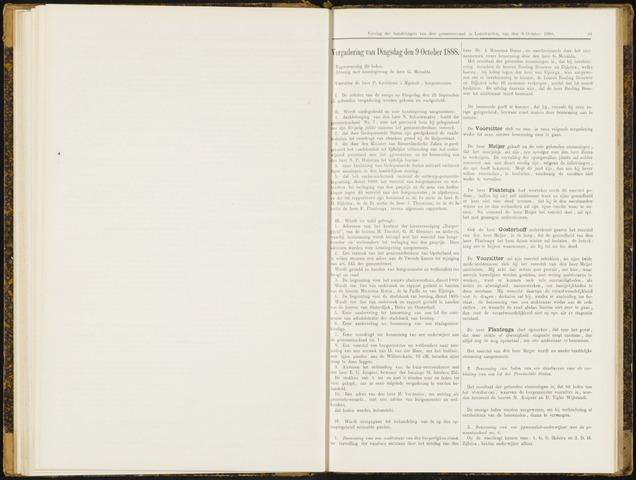 Raadsverslagen van de gemeente Leeuwarden, 1865-2007 (Notulen) 1888-10-09