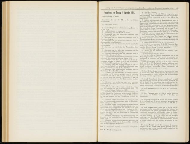 Raadsverslagen van de gemeente Leeuwarden, 1865-2007 (Notulen) 1936-09-01