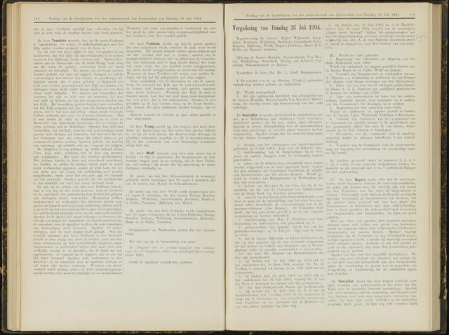 Raadsverslagen van de gemeente Leeuwarden, 1865-2007 (Notulen) 1904-07-26