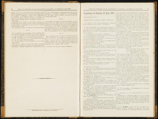 Raadsverslagen van de gemeente Leeuwarden, 1865-2007 (Notulen) 1890-04-22