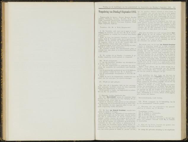 Raadsverslagen van de gemeente Leeuwarden, 1865-2007 (Notulen) 1903-09-08