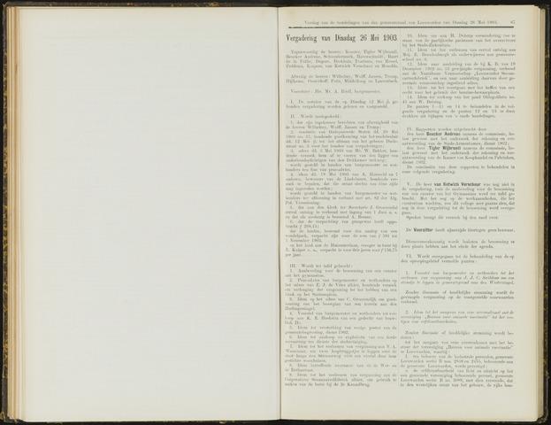 Raadsverslagen van de gemeente Leeuwarden, 1865-2007 (Notulen) 1903-05-26