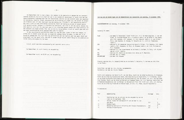 Raadsverslagen van de gemeente Leeuwarden, 1865-2007 (Notulen) 1988-11-14