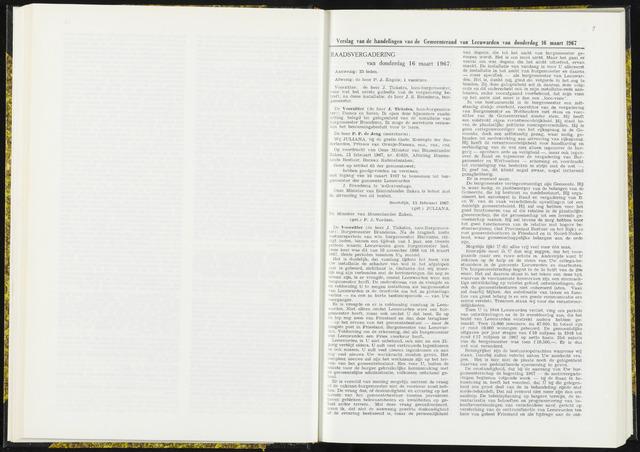 Raadsverslagen van de gemeente Leeuwarden, 1865-2007 (Notulen) 1967-03-16