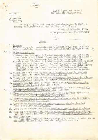 raadsverslagen Idaarderadeel 1935-1983 1953-09-29