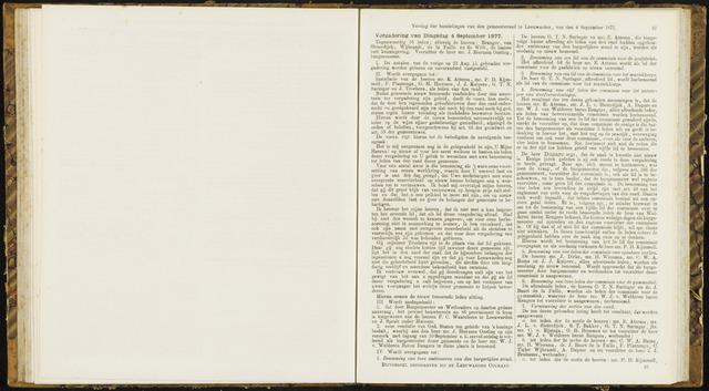 Raadsverslagen van de gemeente Leeuwarden, 1865-2007 (Notulen) 1877-09-04