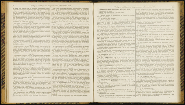 Raadsverslagen van de gemeente Leeuwarden, 1865-2007 (Notulen) 1871-04-27