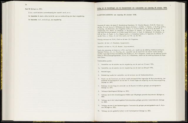 Raadsverslagen van de gemeente Leeuwarden, 1865-2007 (Notulen) 1976-10-25