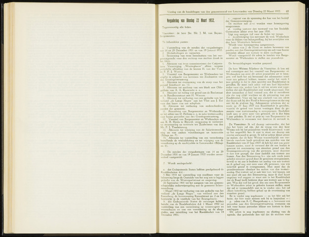 Raadsverslagen van de gemeente Leeuwarden, 1865-2007 (Notulen) 1932-03-22