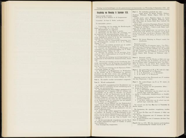 Raadsverslagen van de gemeente Leeuwarden, 1865-2007 (Notulen) 1938-09-14