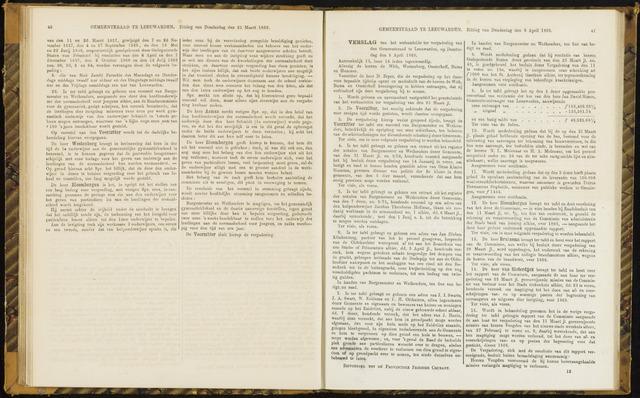 Raadsverslagen van de gemeente Leeuwarden, 1865-2007 (Notulen) 1869-04-08