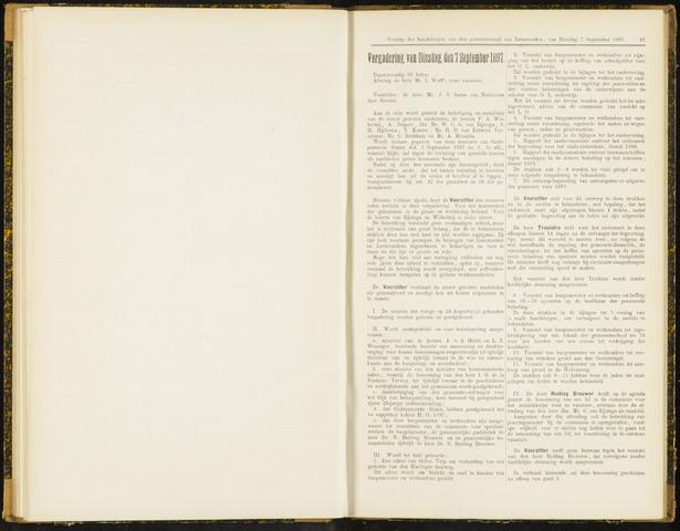 Raadsverslagen van de gemeente Leeuwarden, 1865-2007 (Notulen) 1897-09-07
