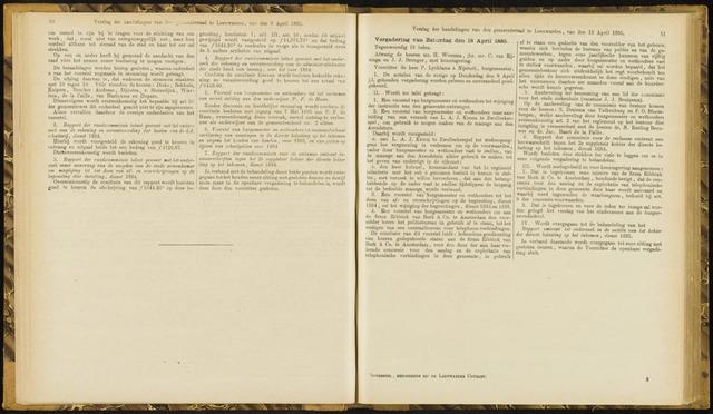 Raadsverslagen van de gemeente Leeuwarden, 1865-2007 (Notulen) 1885-04-18