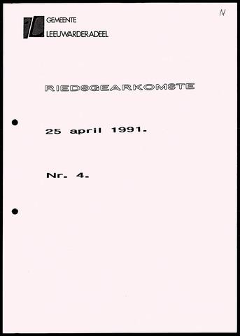 Notulen van de gemeenteraad van Leeuwarderadeel 1991-04-25