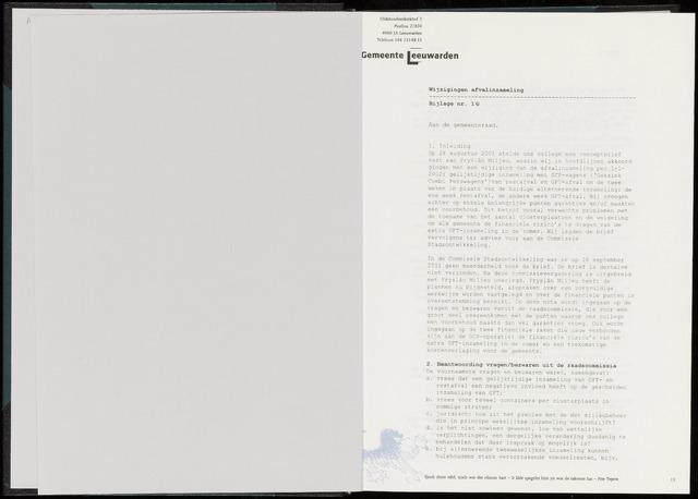 Raadsverslagen van de gemeente Leeuwarden, 1865-2007 (Bijlagen) 2002-01-01