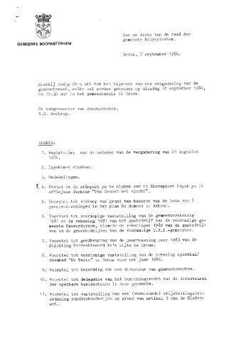 Boarnsterhim vergaderstukken gemeenteraad  1984-09-18
