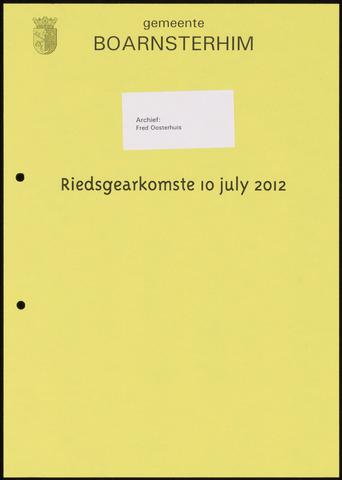 Boarnsterhim vergaderstukken gemeenteraad  2012-07-10