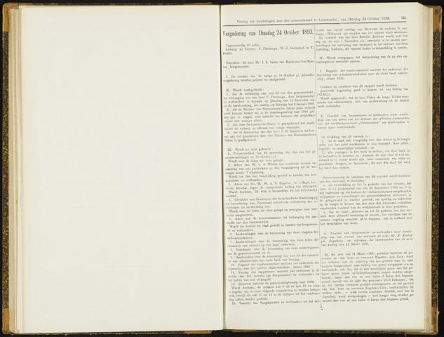 Raadsverslagen van de gemeente Leeuwarden, 1865-2007 (Notulen) 1893-10-24