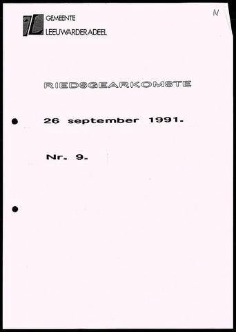Notulen van de gemeenteraad van Leeuwarderadeel 1991-09-26