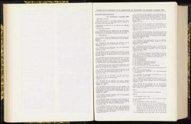 Raadsverslagen van de gemeente Leeuwarden, 1865-2007 (Notulen) 1960-08-03