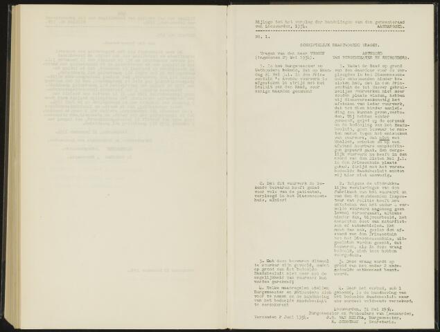 Raadsverslagen van de gemeente Leeuwarden, 1865-2007 (Schriftelijke vragen) 1934