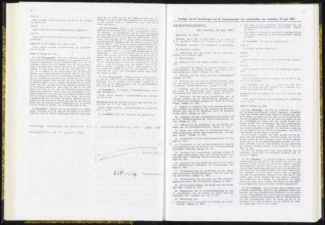 Raadsverslagen van de gemeente Leeuwarden, 1865-2007 (Notulen) 1967-06-26