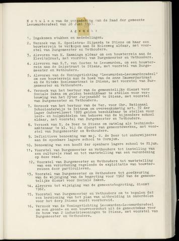 Notulen van de gemeenteraad van Leeuwarderadeel 1963-06-28