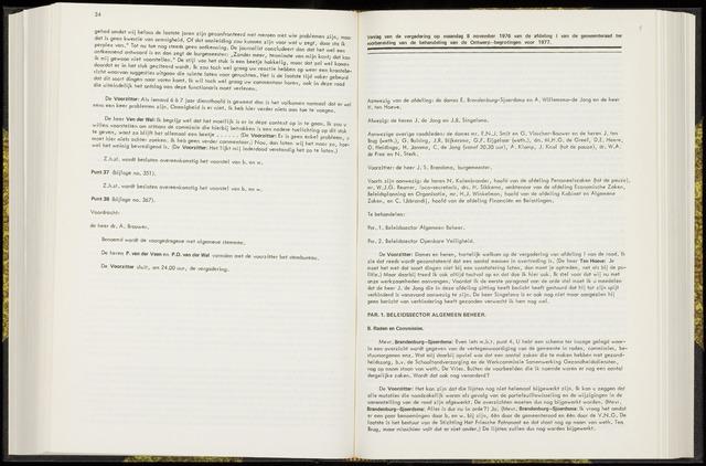 Raadsverslagen van de gemeente Leeuwarden, 1865-2007 (Notulen) 1976-08-11