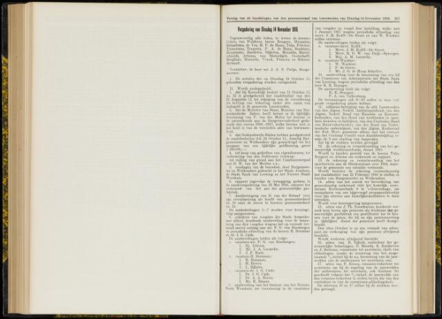 Raadsverslagen van de gemeente Leeuwarden, 1865-2007 (Notulen) 1916-11-14