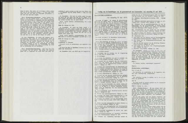 Raadsverslagen van de gemeente Leeuwarden, 1865-2007 (Notulen) 1975-05-12