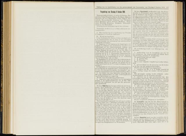 Raadsverslagen van de gemeente Leeuwarden, 1865-2007 (Notulen) 1918-10-08