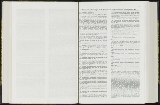 Raadsverslagen van de gemeente Leeuwarden, 1865-2007 (Notulen) 1971-05-24