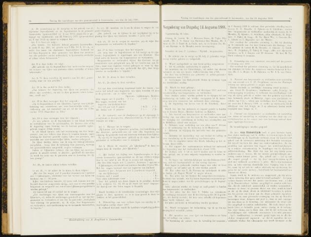 Raadsverslagen van de gemeente Leeuwarden, 1865-2007 (Notulen) 1888-08-14