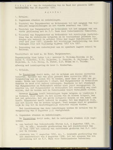 Notulen van de gemeenteraad van Leeuwarderadeel 1958-08-28