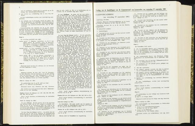 Raadsverslagen van de gemeente Leeuwarden, 1865-2007 (Notulen) 1961-09-27