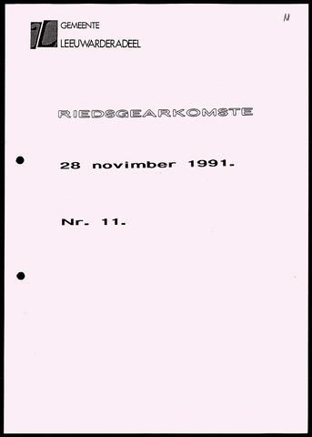 Notulen van de gemeenteraad van Leeuwarderadeel 1991-11-28