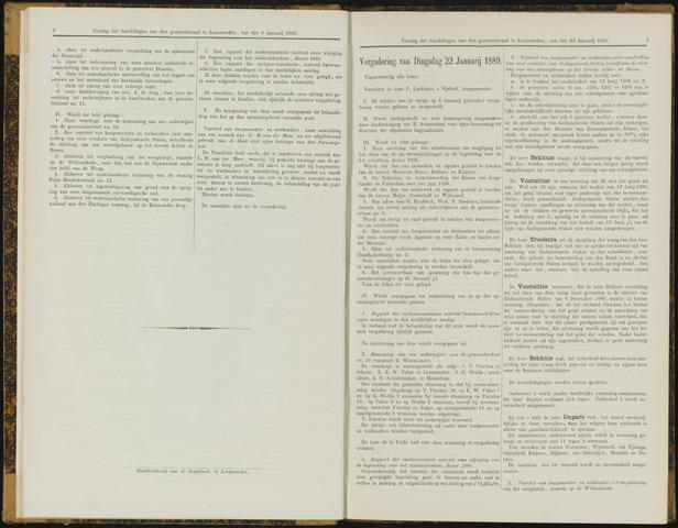 Raadsverslagen van de gemeente Leeuwarden, 1865-2007 (Notulen) 1889-01-22