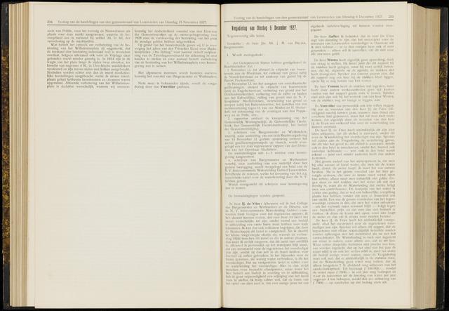 Raadsverslagen van de gemeente Leeuwarden, 1865-2007 (Notulen) 1927-12-06
