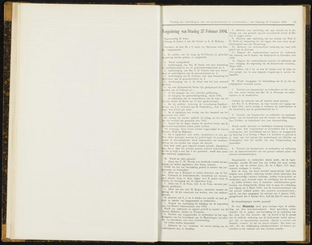 Raadsverslagen van de gemeente Leeuwarden, 1865-2007 (Notulen) 1894-02-27