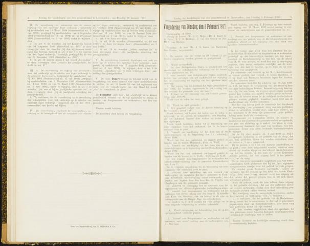 Raadsverslagen van de gemeente Leeuwarden, 1865-2007 (Notulen) 1897-02-09