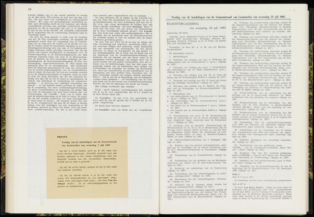 Raadsverslagen van de gemeente Leeuwarden, 1865-2007 (Notulen) 1965-07-28