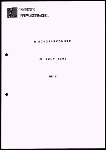 Notulen van de gemeenteraad van Leeuwarderadeel 1994-06-30